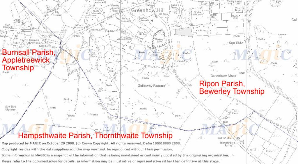Greenhow Hill Parish Boundaries
