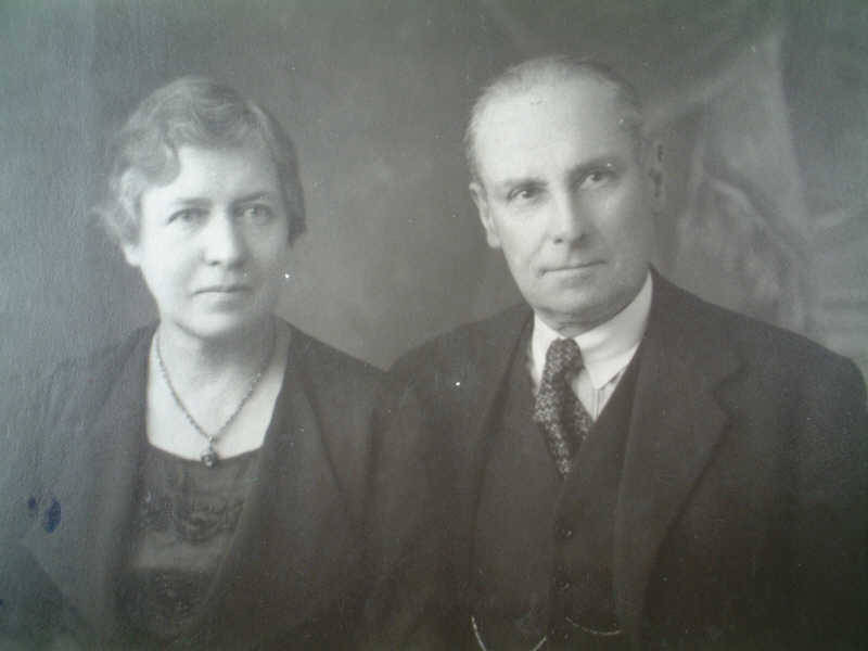 Harald Bruff with his wife Charlotte