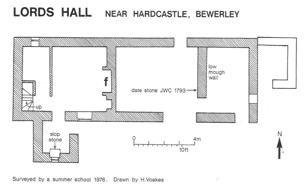 """Lords Hall Plan from """"History of Nidderdale"""""""