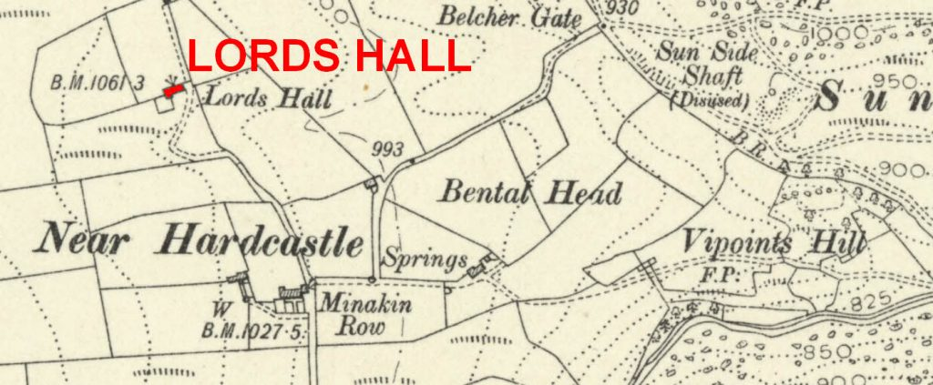 Lords Hall location on 1907